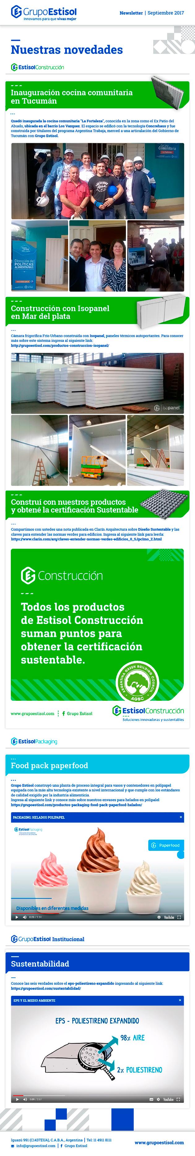 Newsletter Grupo Estisol - Septiembre 2017